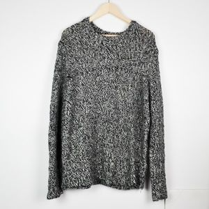 Black & White Speckled Crew Neck H&M Sweater